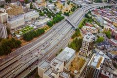 高速公路在西雅图 免版税库存图片