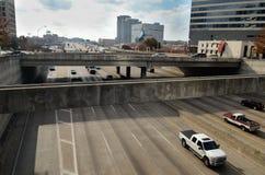 高速公路在达拉斯 免版税库存图片