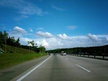 高速公路场面 免版税库存照片