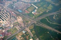 高速公路天桥交叉点 免版税库存照片