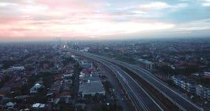 高速公路天桥空中风景  股票视频
