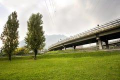 高速公路天桥 免版税库存照片