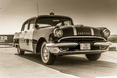 高速公路巡逻驾驶的比德模型的乌贼属图象 库存图片