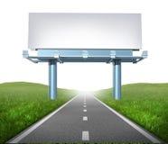 高速公路广告牌 免版税库存图片