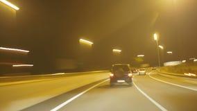 高速公路愤怒照相机汽车高速4k 股票视频