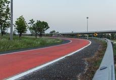 高速公路是危险曲线 免版税库存照片