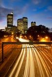 高速公路晚上悉尼 免版税库存图片