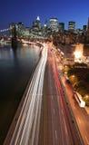 高速公路曼哈顿业务量 免版税库存图片