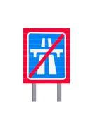 高速公路末端标志 图库摄影
