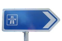 高速公路查出的符号 免版税库存图片