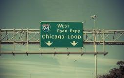 高速公路标志 免版税图库摄影