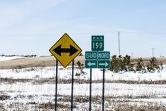 高速公路标志 库存照片
