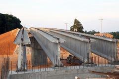 高速公路桥梁建筑 免版税库存照片