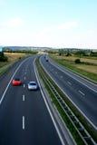 高速公路波兰 免版税库存照片