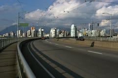 高速公路温哥华 库存图片