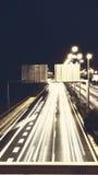 高速公路火光和光 图库摄影