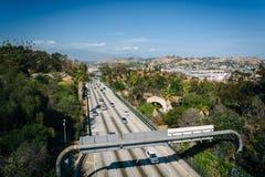 110高速公路的看法从公园行推进桥梁的,在Los A 免版税图库摄影