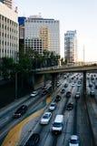 110高速公路的看法从第5座街道桥梁的,街市 图库摄影