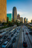 110高速公路的看法从第4座街道桥梁的,街市 免版税库存图片