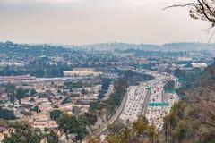 高速公路的看法 免版税库存图片