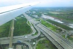 高速公路的鸟瞰图 免版税图库摄影