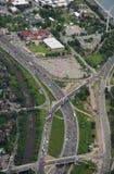 高速公路的鸟瞰图 图库摄影