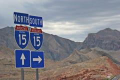 高速公路符号 图库摄影