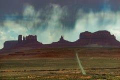 高速公路美国163阿甘正传停止跑的地方 免版税库存照片