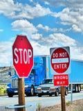 高速公路美国 免版税图库摄影