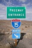 高速公路莫哈韦沙漠 图库摄影