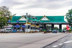 高速公路薪水通行费驻地 免版税库存照片