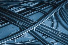 高速公路街市Burj的迪拜路交叉点 免版税库存照片