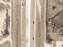 高速公路跨境10个I10天桥的空中建筑 图库摄影