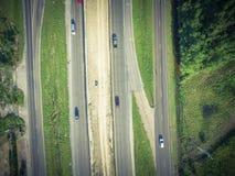 高速公路跨境10个I10天桥的空中建筑 免版税库存图片