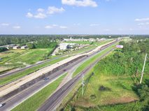 高速公路跨境10个I10天桥的空中建筑 库存图片