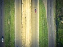 高速公路跨境10个I10天桥的空中建筑 免版税图库摄影