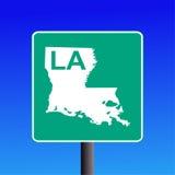 高速公路路易斯安那符号 免版税库存照片