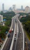 高速公路转弯 库存图片
