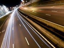 高速公路轻的现代线索 库存图片