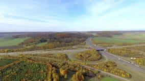 高速公路连接点鸟瞰图  股票录像