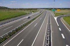 从高速公路退出 免版税库存照片