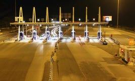 高速公路通行费收集点 免版税图库摄影