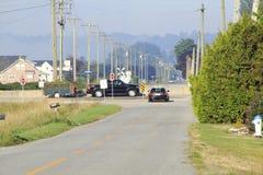 高速公路速度监视所 图库摄影