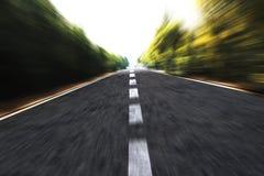 高速公路速度 库存照片