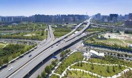 高速公路郑州瓷 库存图片