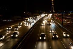 高速公路都市生活的业务量 免版税库存照片