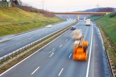 高速公路都市生活的业务量 库存图片