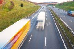 高速公路都市生活的业务量 库存照片