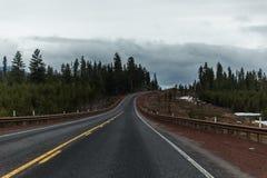 高速公路风景在俄勒冈 免版税库存图片