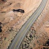 高速公路风景犹他 免版税库存图片